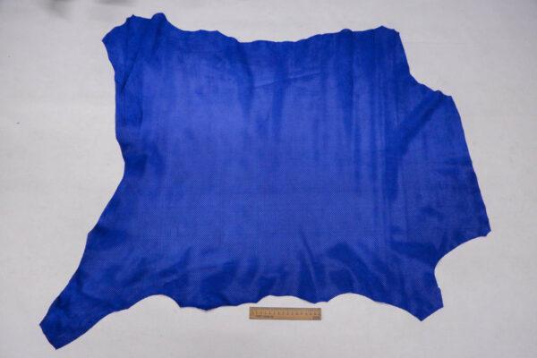 Велюр одежный МРС с перфорацией, ярко-синий, 68 дм2, Bonaudo S.p.A.-109776