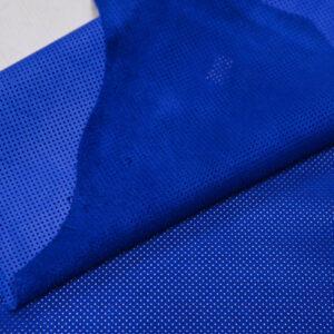 Велюр одежный МРС с перфорацией, ярко-синий, 48 дм2, Bonaudo S.p.A.-109777