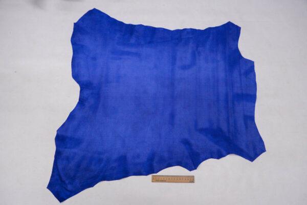 Велюр одежный МРС с перфорацией, ярко-синий, 54 дм2, Bonaudo S.p.A.-109779