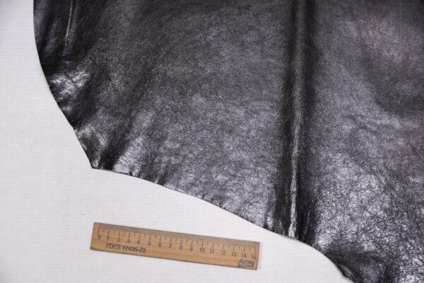 Кожа кенгуру, темно-коричневая с винтажным эффектом, 37 дм2, Bonaudo S.p.A.-109794