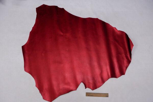 Кожа кенгуру, вишневый металлик (кабира), 46 дм2, Bonaudo S.p.A.-109807