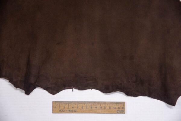 Велюр МРС (коза), темно-коричневый, 26 дм2, Conceria Stefania S. p. A.-109840
