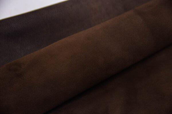 Велюр МРС (коза), темно-коричневый, 26 дм2, Conceria Stefania S. p. A.-109842
