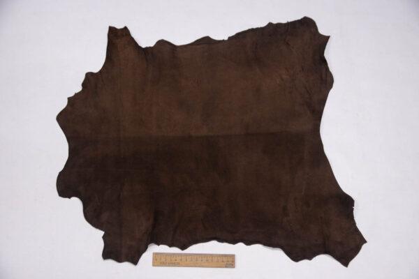 Велюр МРС (коза), темно-коричневый, 27 дм2, Conceria Stefania S. p. A.-109844