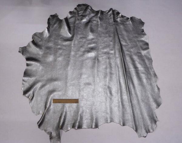 Кожа козы, темное серебро, 69 дм2.-109867