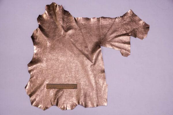 Кожа козы, розовое золото, 25 дм2, Conceria Martucci Teresa S.R.L.-109869