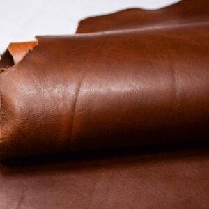 Кожа КРС ременная лицевая, растительного дубления, коричневая, 149 дм2.-D1-230