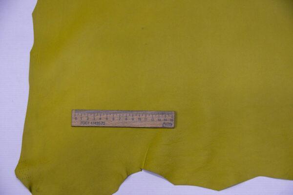 Кожа МРС, оливково-желтая, 56 дм2.-109952