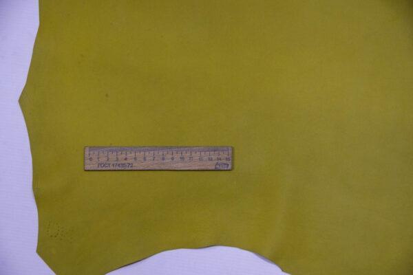 Кожа МРС, оливково-желтая, 54 дм2.-109953