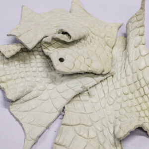 Кожа крокодила, темно-белая- kr-189