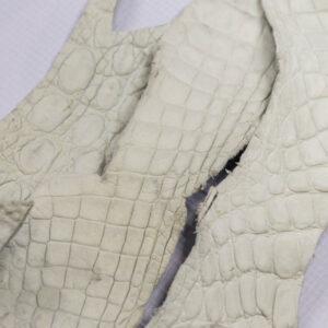 Кожа крокодила, темно-белая- kr-190