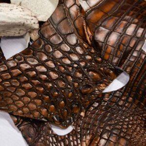 Кожа крокодила, коричневая- kr-191