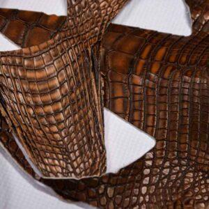 Кожа крокодила, коричневая- kr-193