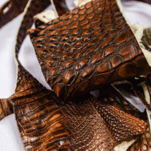Кожа крокодила, коричневая- kr-194