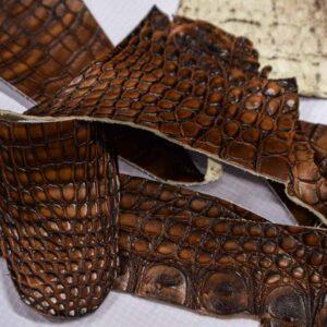 Кожа крокодила, коричневая- kr-196