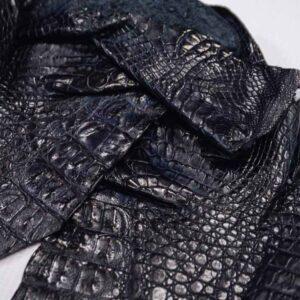Кожа крокодила, темно-синяя- kr-204