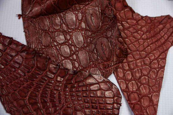 Кожа крокодила, бордовая- kr-209