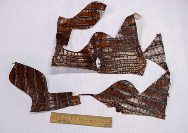 Кожа крокодила, коричнево-коньячная- kr-223