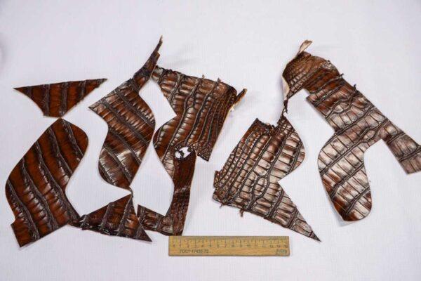 Кожа крокодила, коричнево-коньячная- kr-224