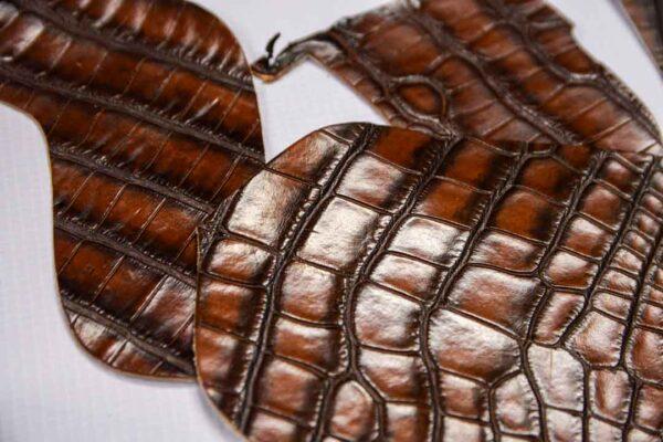 Кожа крокодила, коричнево-коньячная- kr-225
