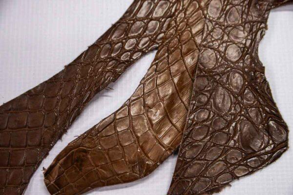 Кожа крокодила, коричневая- kr-231