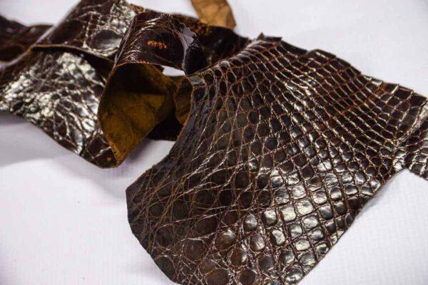 Кожа крокодила, коричневая- kr-238