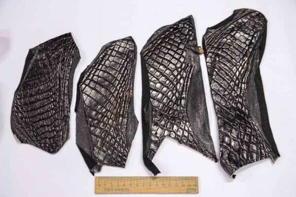 Кожа крокодила, темно-коричневая- kr-252