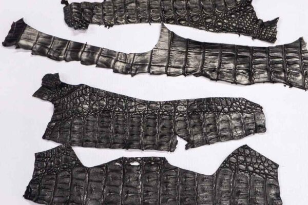 Кожа крокодила, черная- kr-258