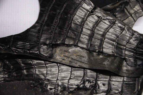 Кожа крокодила, черная- kr-260