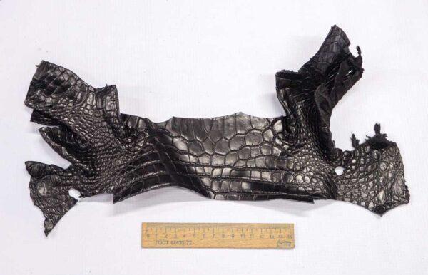 Кожа крокодила, черная- kr-266