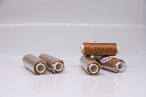 """Нить """"GALACES"""" вощеная круглая 0,45 мм. Светло-коричневая-s018"""