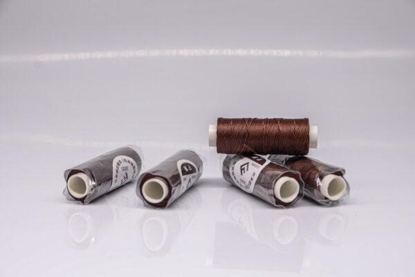 """Нить """"GALACES"""" вощеная круглая 0,45 мм. Темно-коричневая-s020"""
