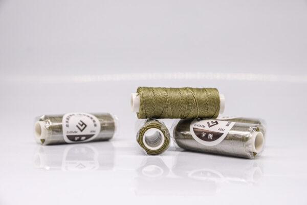 """Нить """"GALACES"""" вощеная круглая 0,45 мм. Оливковая-s026"""