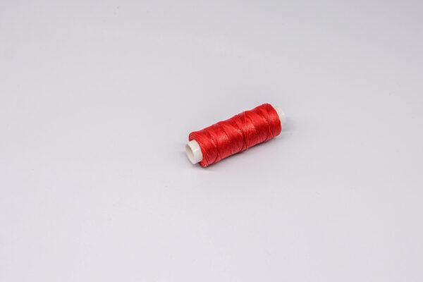 """Нить """"GALACES"""" вощеная круглая 0,45 мм. Красная-s049"""