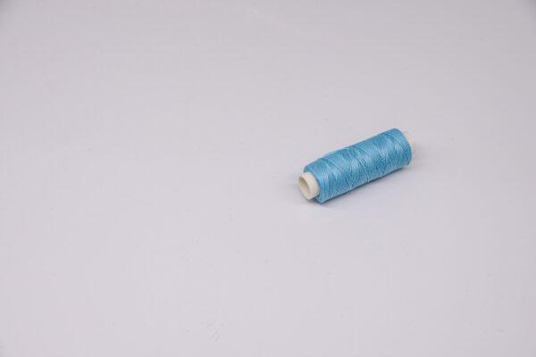 """Нить """"GALACES"""" вощеная круглая 0,55 мм. Голубая-s010"""