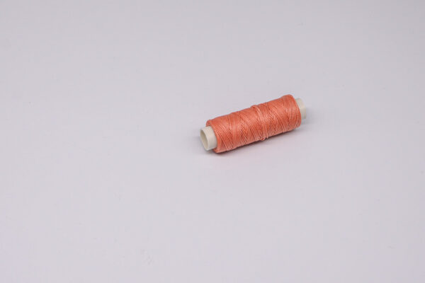"""Нить """"GALACES"""" вощеная круглая 0,55 мм. Лососевая-s017"""