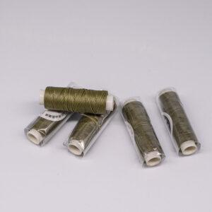 """Нить """"GALACES"""" вощеная круглая 0,55 мм. Оливковая-s026"""