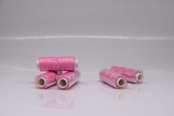 """Нить """"GALACES"""" вощеная круглая 0,55 мм. Розовая-s045"""
