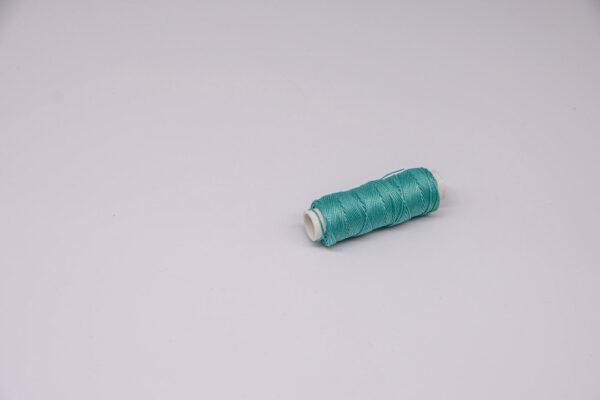 """Нить """"GALACES"""" вощеная круглая 0,55 мм. Бирюзовая-s069"""