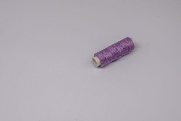 """Нить """"GALACES"""" вощеная круглая 0,55 мм. Сиреневая-s072"""