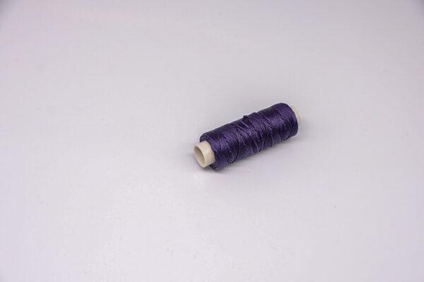 """Нить """"GALACES"""" вощеная круглая 0,55 мм. Темно-фиолетовая-s073"""