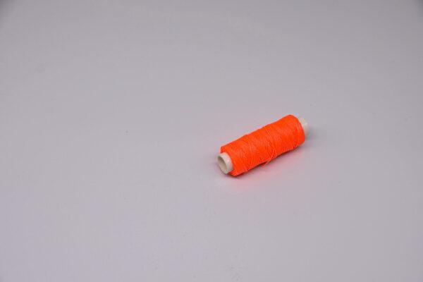 """Нить """"GALACES"""" вощеная круглая 0,55 мм. Неон оранжевый-s076"""