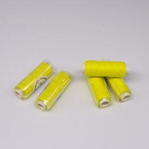 """Нить """"GALACES"""" вощеная круглая 0,55 мм. Неон лимонный-s077"""