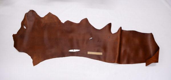Кожа КРС крейзи хорс (Crazy Horse) с эффектом пул ап (Pull Up), коньячная, 71 дм2.-1-464