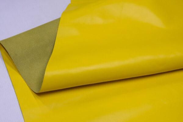 Кожа КРС гладкая, желтая, 170 дм2.-D1-244