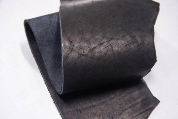 Кожа КРС ременная, краст, черная, 33 дм2.-D1-260