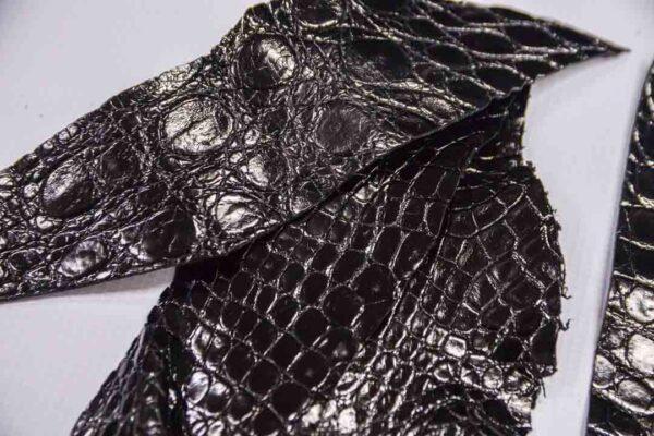 Кожа крокодила, черная- kr-271