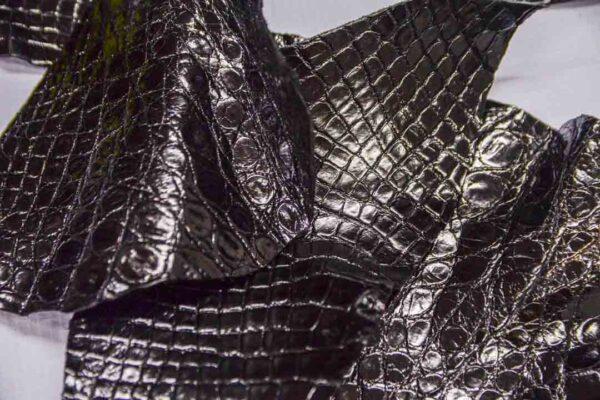 Кожа крокодила, черная- kr-281