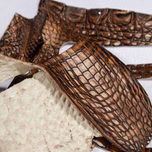 Кожа крокодила, коричнево-коньячная- kr-291