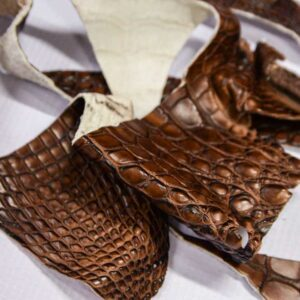 Кожа крокодила, коричнево-коньячная- kr-293